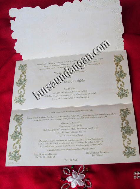 Model desain kartu undangan pernikahan murah blanko jenis softcover ...