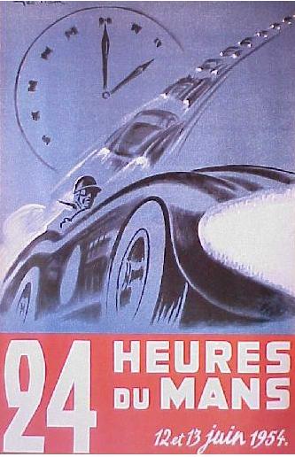Affiche officielle des 24 Heures du Mans 1954