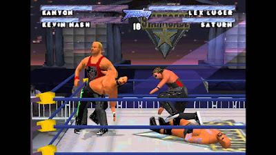 WCW/nWo Thunder PlayStation PS1 wrestling gameplay wrestler