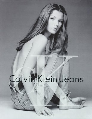 Kate Moss  90s Calvin Klein ads