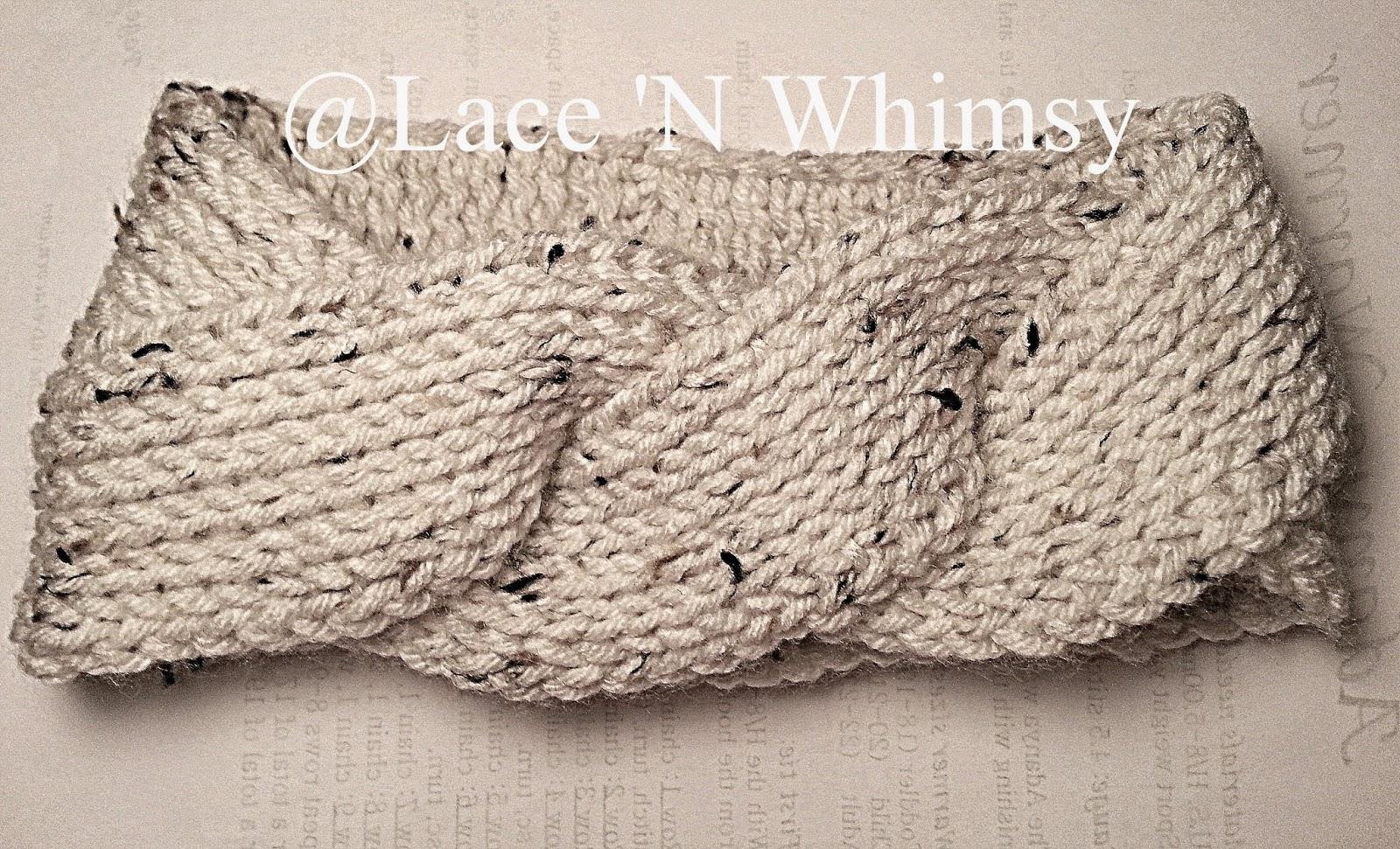 Lace and Whimsy: Triple Twist Headband Ear Warmer Tunisian Knit Crochet Free ...