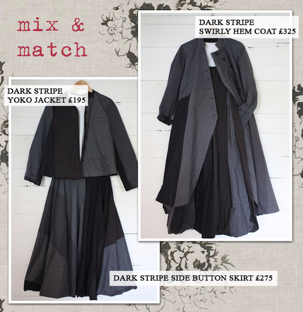 Mix and Match Dark Stripe Collection Garments