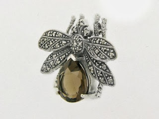 Marcasite Bee Brooch