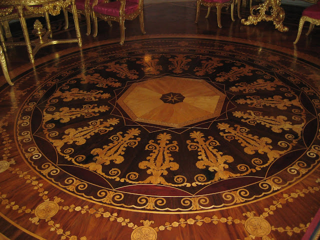Parquet Floor Medallion Inlay at Yusupov Palace, Sankt Petersburg, Russia