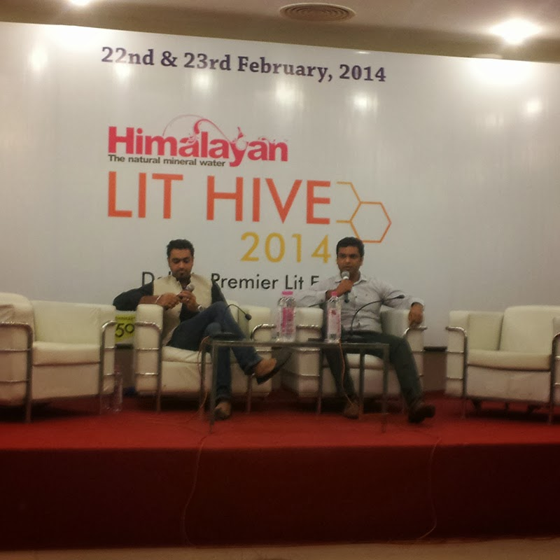 Ravinder Singh and Sachin Garg at Lit Hive 2014