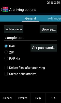 WinRAR v5.20 bluid 26 APK