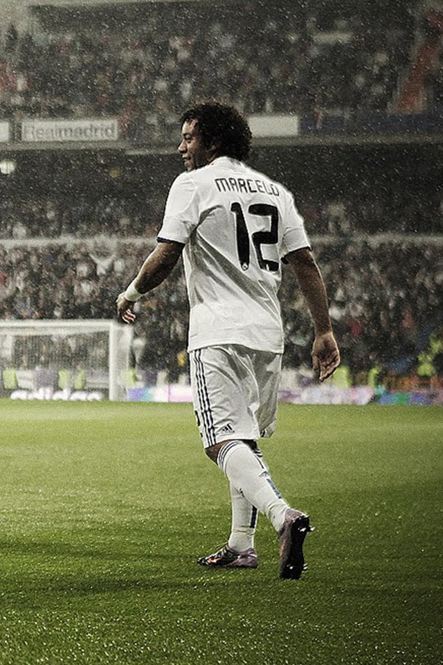 iPhone Retina Display Wallpapers: Marcelo Real Madrid Retina Background Pictures
