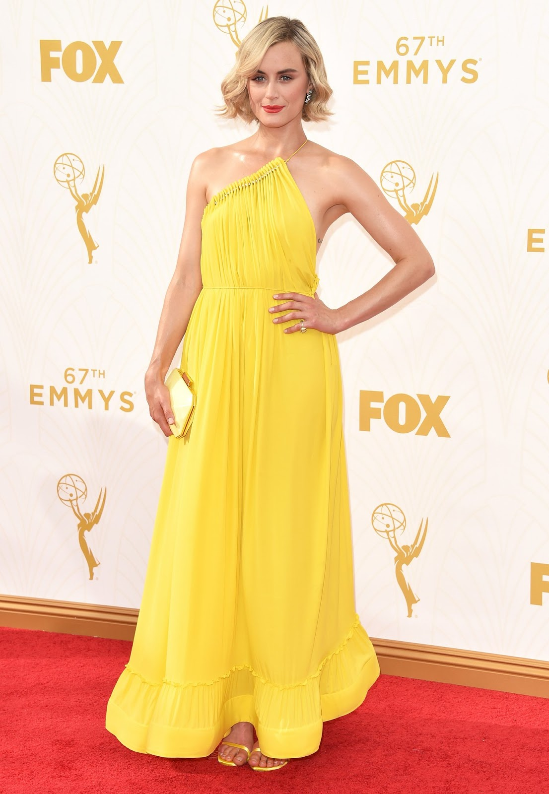 WHO WORE WHAT?.....Emmy Awards 2015: Taylor Schilling in Stella ...