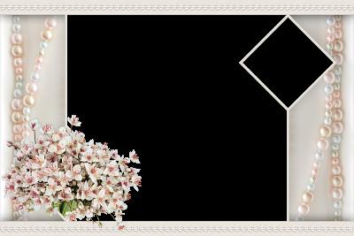 marco de foto de boda
