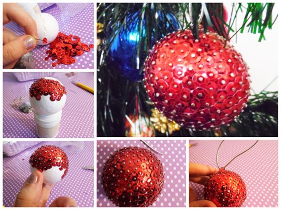 Como fazer bolas de natal lindas e baratas