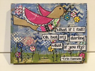 bird quote, what if I fall?, boho bird, bird decor