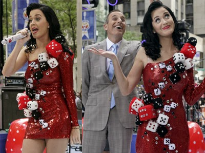 Katy Perry in her famous Vegas 'dice dress'