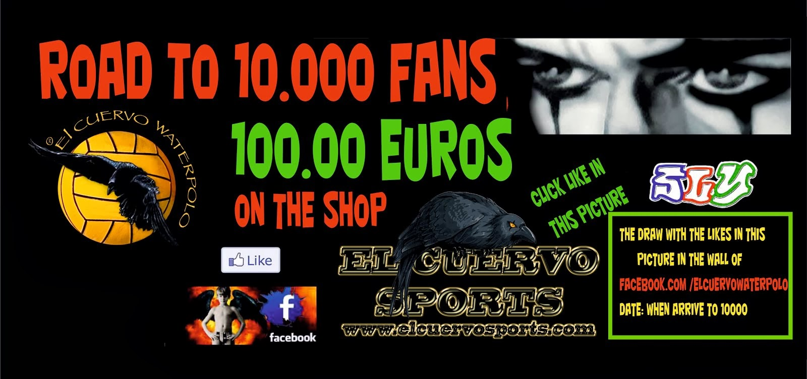 DRAW 100 EUROS ON THE SHOP