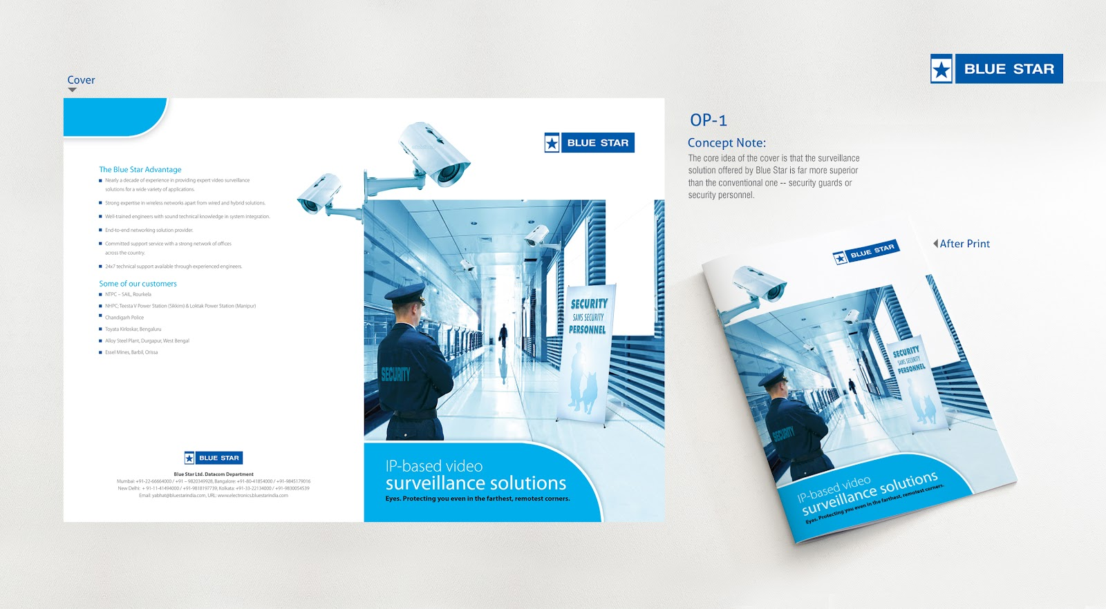 security company brochure template - kiruba 39 s creations blue star brochure design security
