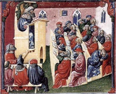 Professor universitário na Idade Média