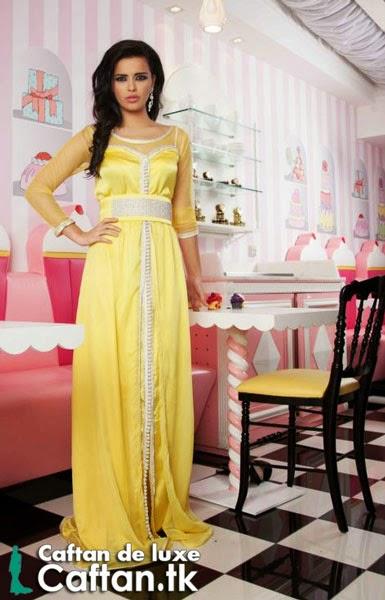 Caftan 2014 | robe de soirée jaune