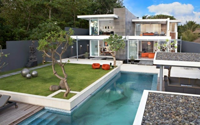 Exotic Homes exotic homes with pool in the garden | houzz home