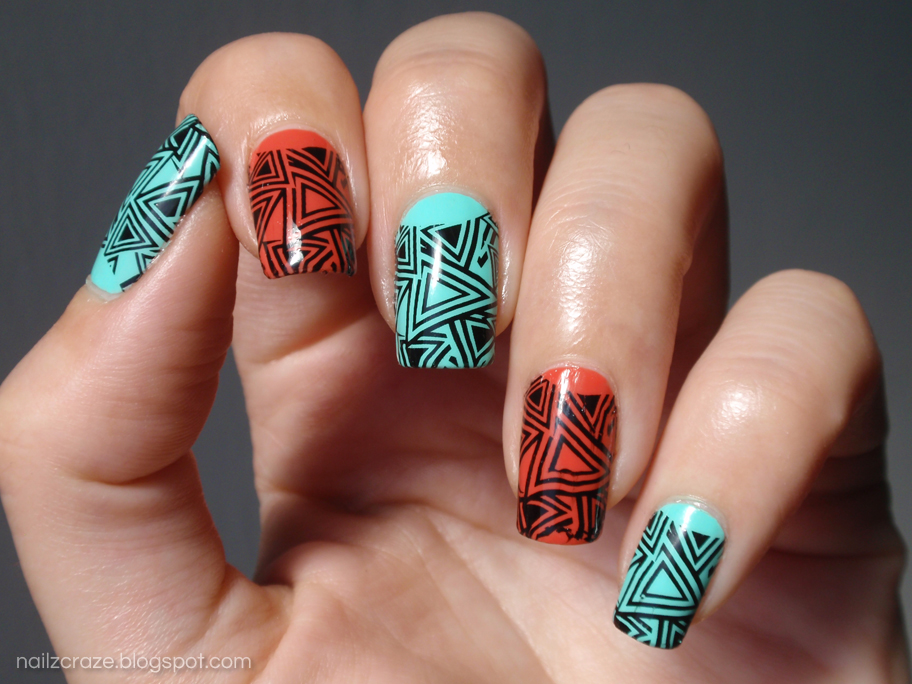 Geometric Skittle Nails - Nailz Craze