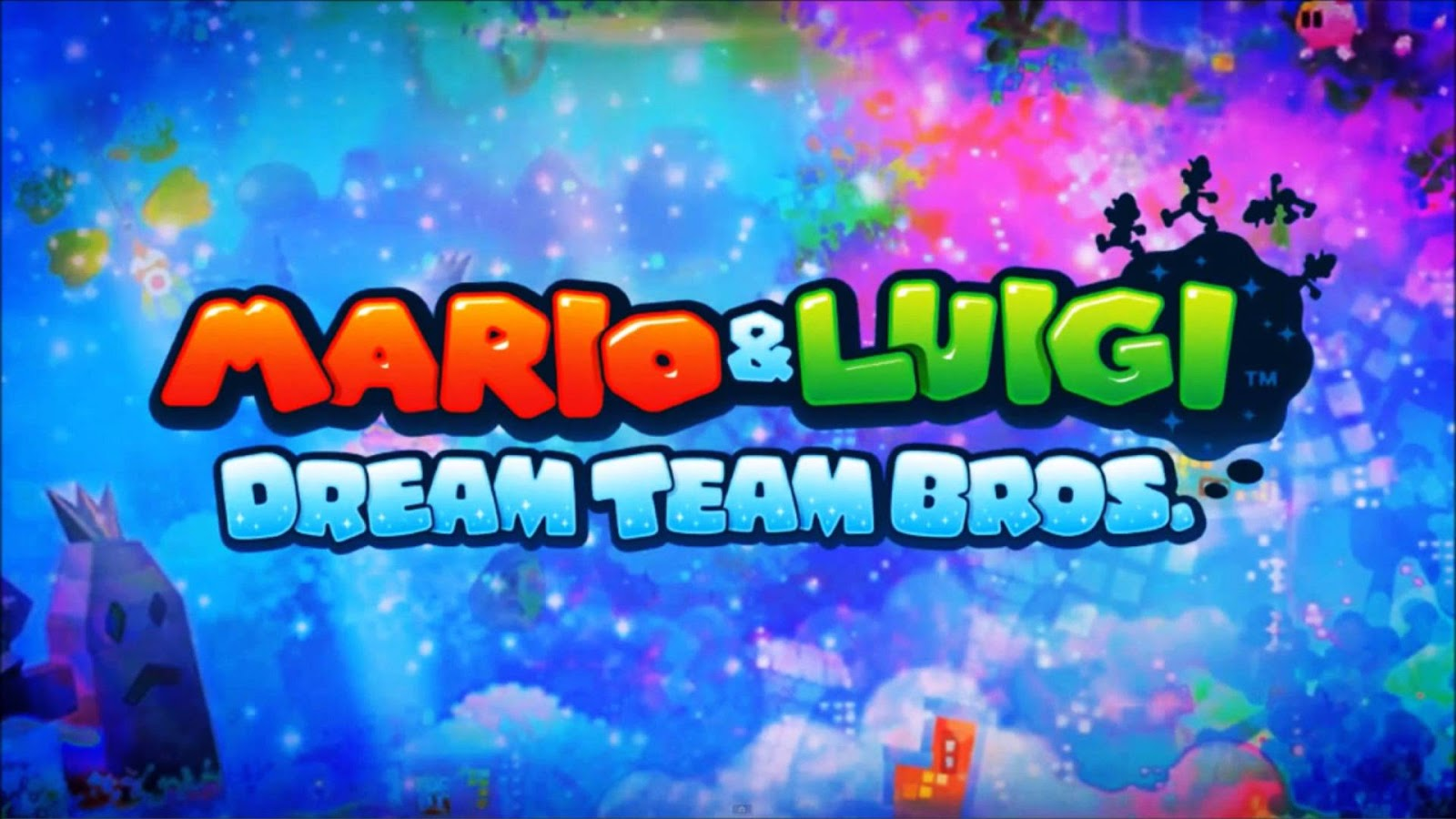 Mario and Luigi Dream Team Bros Wallpaper