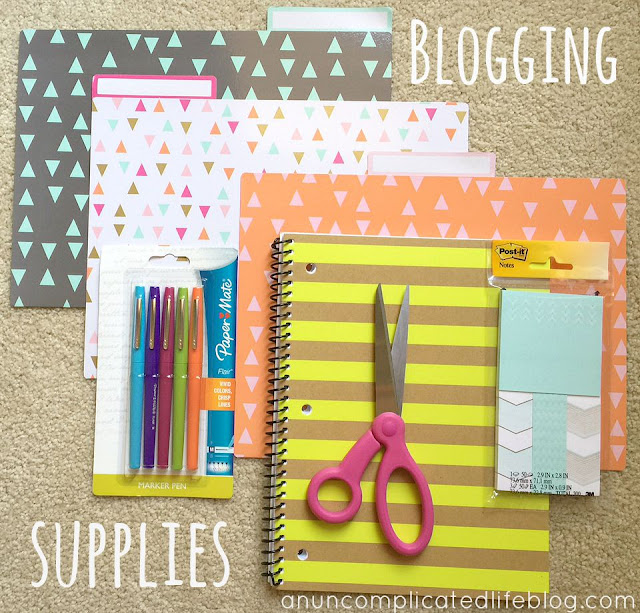 Supplies to help you be a better blogger