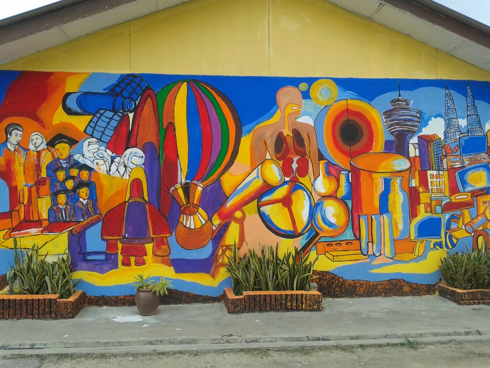 Hem sekolah ceria murid berjaya program keceriaan for Mural sekolah