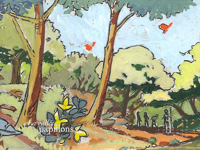 Fond d'écran avril 2012 n°2 - La vallée des papillons d'Arnaud Floc'h (1600x1200)