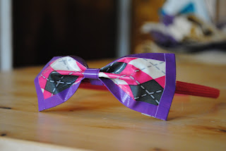 Duct tape bow headband