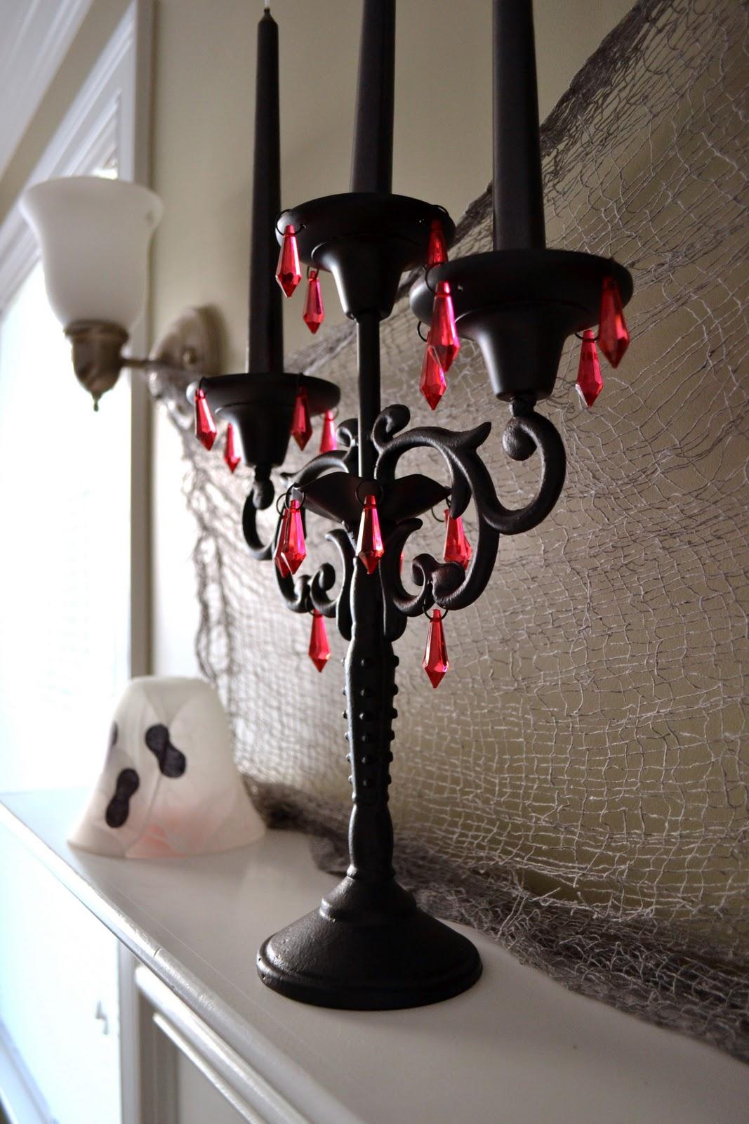 A Vegas Girl at Heart: Halloween DIY: Mantel & Spook Banner. A Vegas Girl  At Heart Halloween DIY Mantel Spook Banner