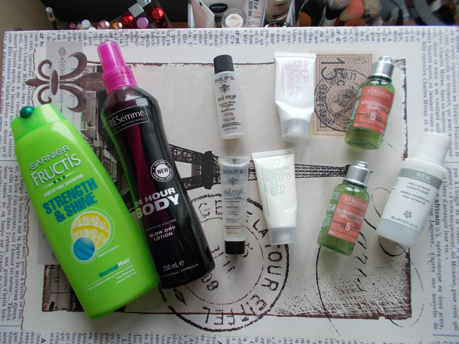 product reviews haircare garnier tresemme l'occitane philip kingsley philip b ren review