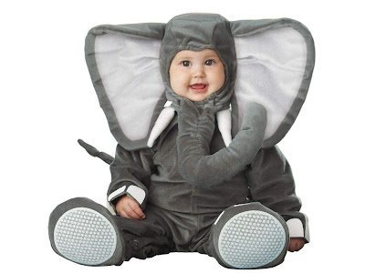 Cute baby with Animal Clothingin - Baby with elephant costume Wallpaper