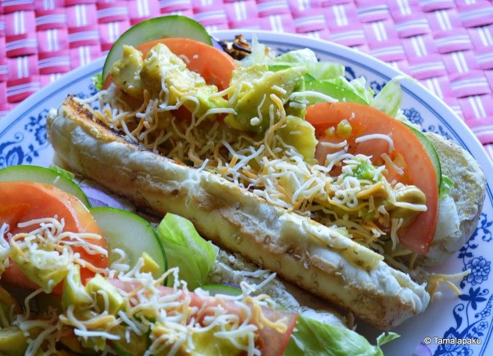 Avocado-Lettuce-Tomato Sandwich