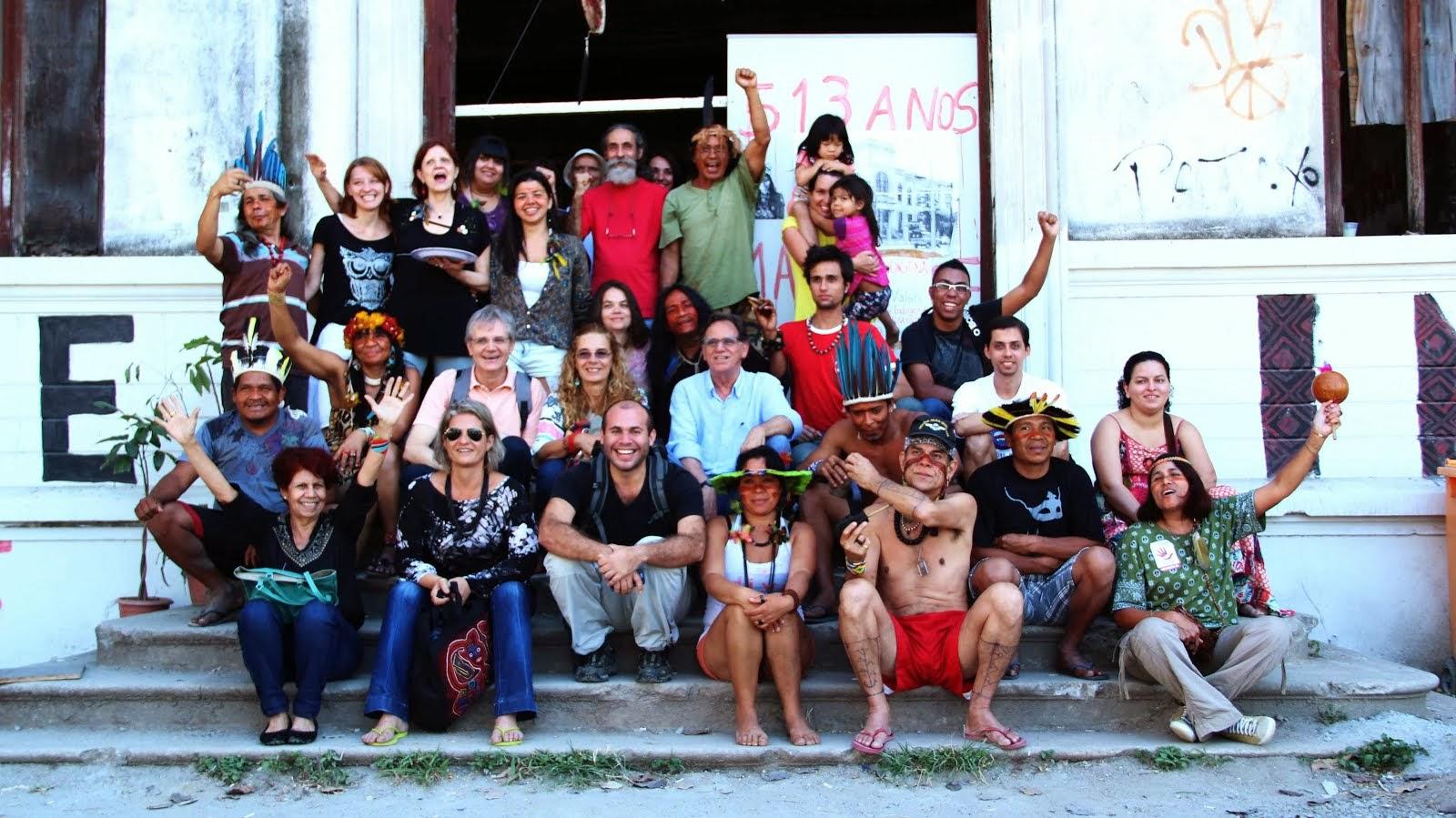 Universidad Indígena de la Aldea de Maracana, Río de Janeiro. Agosto 2013.