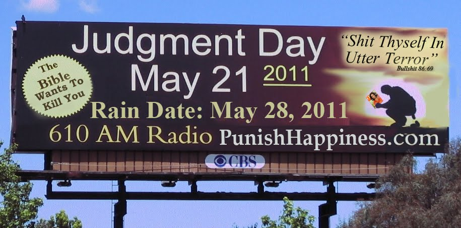 judgment day billboard. The Judgment day billboards in