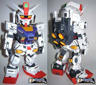 SD Rx-78-2 Evolve Gundam Papercraft Model Free