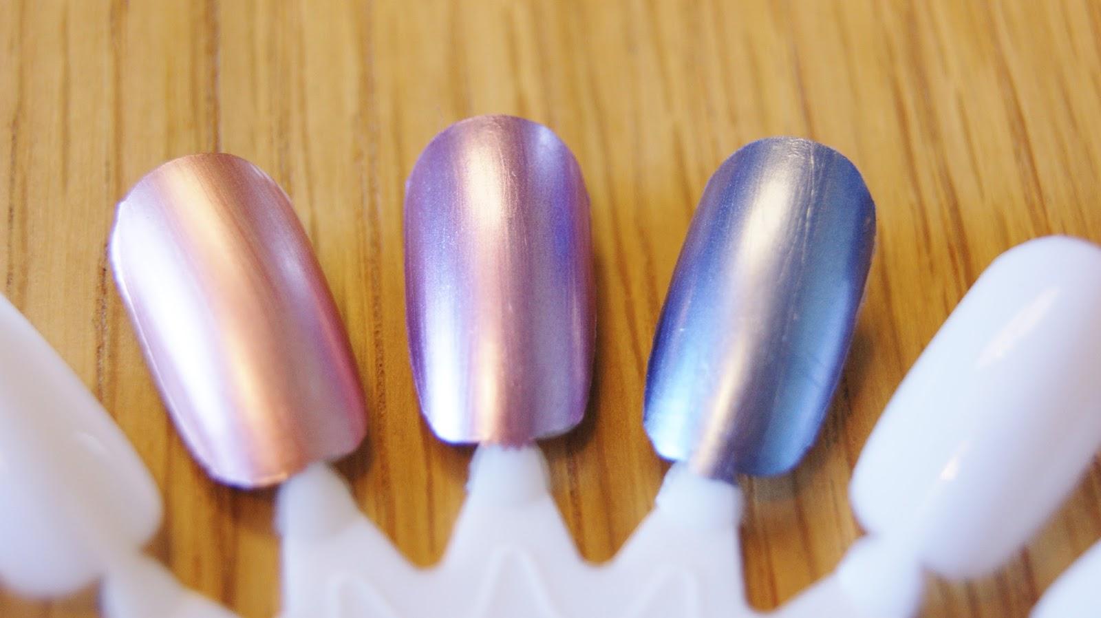 Models Own Chrome Nail Polish Swatches