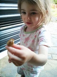 holding a slug