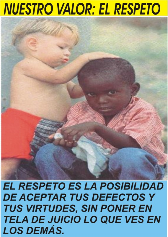 respeto a las personas para colorear