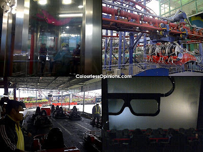 Genting Highlands flying coaster, sky ventures, motion master 4d, go kart