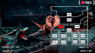 Screenshots of the Five nights at jurassic world for Android tablet, phone.