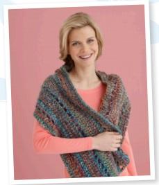 Crochet Triangle Shawl Crochet Pattern | Red Heart