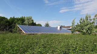 Small Solar Farm on Rooftop