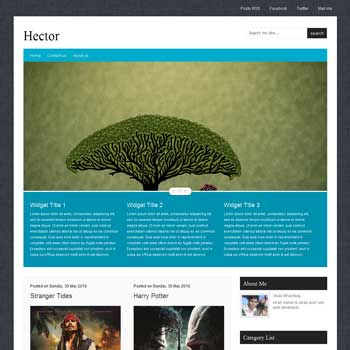 Hector blogger template. movie template blogger blog. 4 column footer blogger template free
