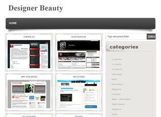 designer beauty plantilla para blogger
