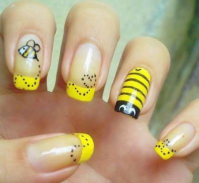 Uñas Decoradas con Bichinhos