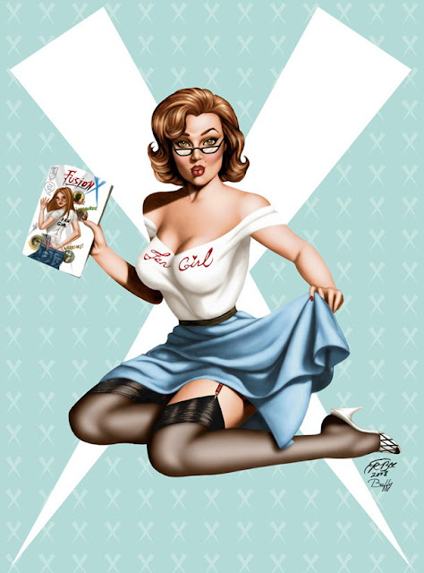 modern pin up girl
