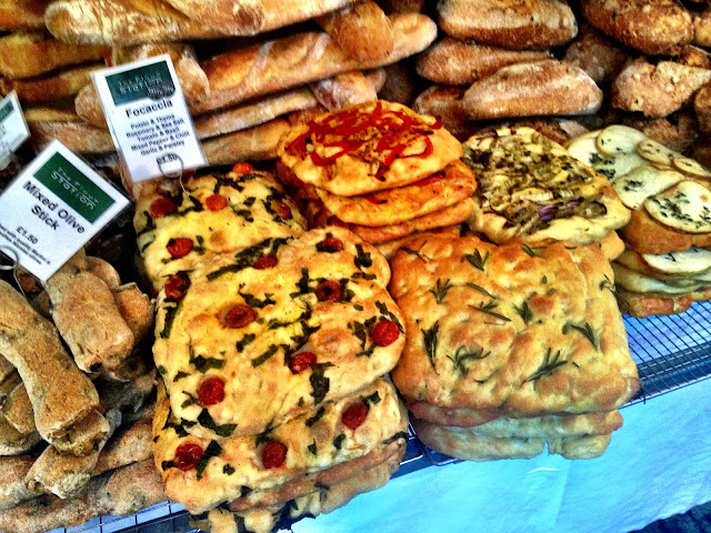Focaccia and other breads - Real Food Market, South Bank, London