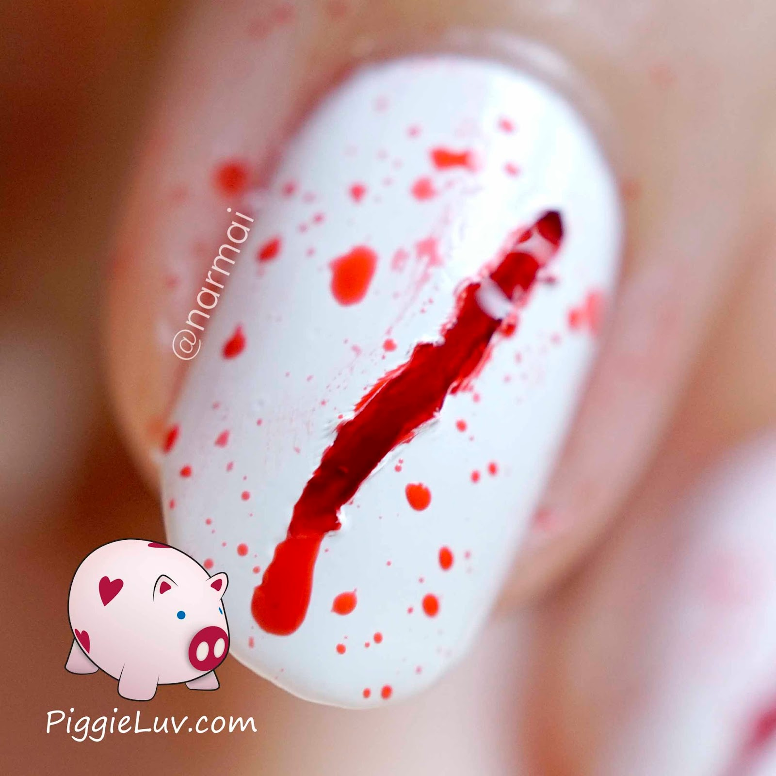 Piggieluv bloody scratches nail art for halloween bloody scratches nail art for halloween solutioingenieria Image collections