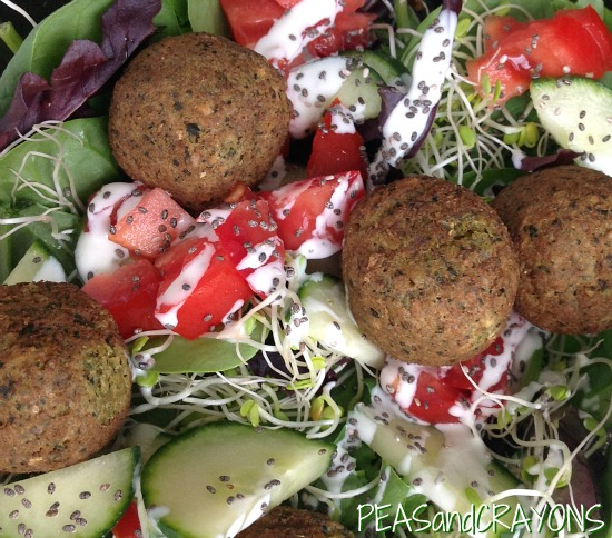 Veggie Patch Falafel Spinach Salad