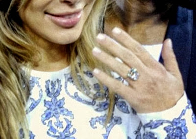 Kim Kardashian big diamond ring