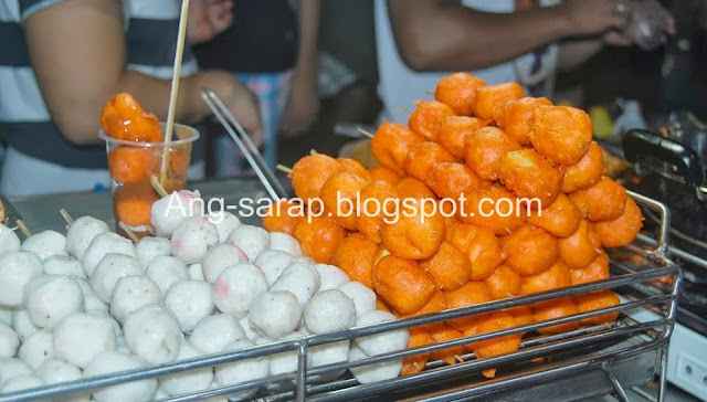 squid balls and tokneneng/quail eggs